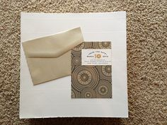 Sherer-Higgins with a bold patterned paper and a wrap-around the edge design.