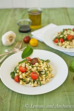 Corn Tomato and Basil Salad-4  Green beans can also be added to kick up the veggie  content!