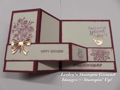 Lesley's Stampin Ground : Z fold card Z Cards, Step Cards, Fancy Fold Cards, Folded Cards, Simple Birthday Cards, Pop Up Box Cards, Craftwork Cards, Shaped Cards, Christmas Cards To Make