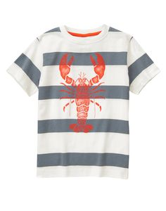 Lobster Striped Tee at Gymboree
