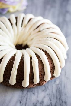 Chocolate Chocolate Chip Nothing Bundt Cake Copycat