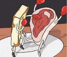 The Honey(melon)moon is over: Meat-free weak. Honey, Moon, Fish, The Moon