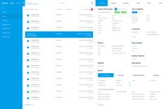 Insurers Claims Management System UI/UX by George Moxeve