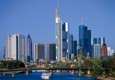 Skyline de Frankfurt. (Alemanya)