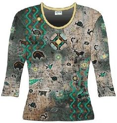 Cactus Bay Apparel Southwest Motif All Over Print T-Shirt