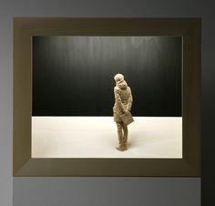 aspettando le promesse  tiglio, acrilico, neon 55 x 65 x 15,5cm 2012