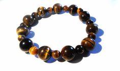 Opal Rainbow Semi Precious Tiger Eye Bracelet