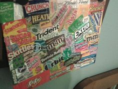 Make a collage out of candy wrappers :). This is mine!!