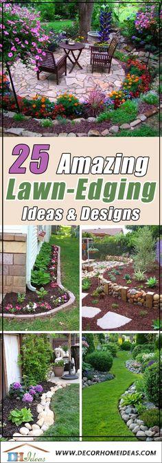 Beech flower bed - Decor Home Ideas 25 Amazing Lawn Edging Ideas Lawn Edging, Garden Edging, Easy Garden, Lawn And Garden, Garden Beds, Indoor Garden, Garden Art, Patio Diy, Backyard Patio