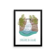 Framed print . Cascate di Lillaz . Gran Paradiso, €32.98