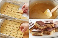 Ingredients  90 buttery rectangular crackers (from 13.7-oz box)  1 can (14 oz) sweetened condensed milk (not evaporated)  1 cup packed brown sugar  1/2 cup butter  1/4 cup milk  1 bag (11.5 oz) milk chocolate chips (2 cups)    Preparation  1 Line 13×9-inch pan with