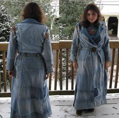 Just Another Crafting Blog: Denim Duster (NOW WITH WINTER LINING!)