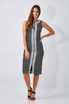 VERY VERY - Check Zip Front Dress