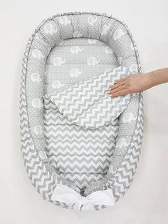 SALE!!! READY to SHIP! Double-sided babynest, Baby nest, Baby lounger, Baby positoner, Removable mattress, newborn gift, co sleeper, neutral
