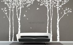 New six tree forest Wall sticker murals nature by HEARTSTICKER