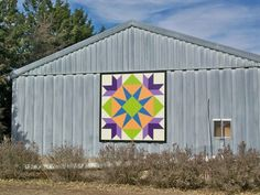 Barn Quilt 'Summer Star Flower'