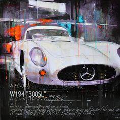 Markus Haub Mercedes 300 SL W194 195... Edition auf Metall (Dibond) ab 25 x 25 cm ab  49,00 € http://www.artfan.de/haub-markus-mercedes-300-sl-w194-1952-kunst-kaufen-junge-kunstler.html