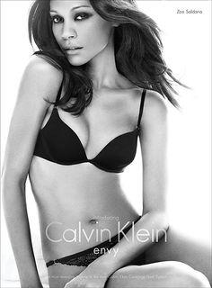 Zoe Saldana Sizzles In New Calvin Klein Underwear Envy Ad Campaign 212652de67c75