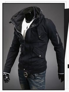 0ca363a68c0 Men s Fashion Overcoat With Arm Zippers Cool Jackets