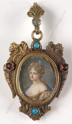 Portrait of A Young Aristocratic Lady French Miniature 1770s   eBay