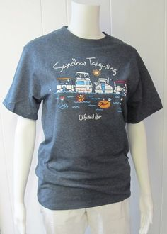 Sandbar Tailgating Tee | Looking for something to wear on your next boating adventure?  We've got just the thing....the sandbar tailgating tee!  50% Cotton/50% Polyester.  Available in Heather Blue.  Sizes S-XL. | Willy & Babbish Boutique | New Baltimore, MI