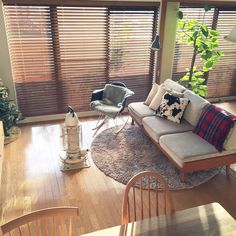Home Decoration Cheap Ideas Key: 3750961714 Ercol Furniture, Outdoor Furniture Sets, Outdoor Decor, Cozy Living Spaces, Home Living Room, Dark Interiors, Shop Interiors, Japanese Interior, Curtains With Blinds