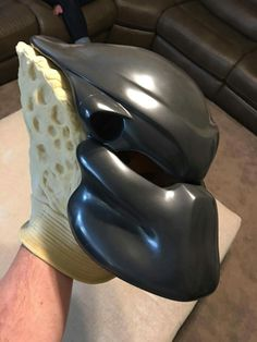My Predator 1 Bio being made by Casey McCabe Predator Costume, Predator Mask, To Catch A Predator, D Evans, Armadura Cosplay, Airsoft Mask, Half Face Mask, Sculpting, Sculptures