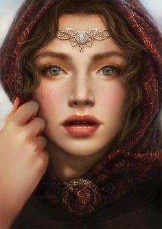 Beauty of Fantasy Fantasy Magic, Fantasy Story, Fantasy Girl, Fantasy Rpg, Fantasy Portraits, Character Portraits, Character Art, Fantasy Characters, Female Characters