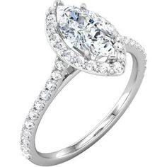 Marquise Engagement Ring with Halo! So delicate and interesting