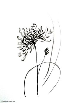 Intuitive Minimalism - Far East/Uzak Doğu - Minimalismus İdeen Flower Tattoo Designs, Flower Tattoos, Small Tattoos, Kunst Tattoos, Irezumi Tattoos, Crisantemo Tattoo, Crysanthemum Tattoo, Chrysanthemum Drawing, November Flower