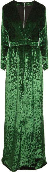 Leopard Velvet Gown - Lyst