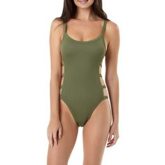 169adafad5 Juniors  Rib Banding One-Piece Swimsuit. Full Piece SwimsuitsCute ...