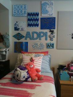 Super cute ADPi dorm decor