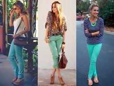 ...Como usar calça verde - II