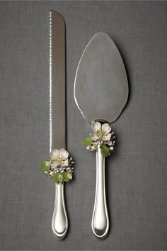 Thinking I could make these with vintage earrings glued to the servers?   Sakura Serving Set in SHOP New at BHLDN