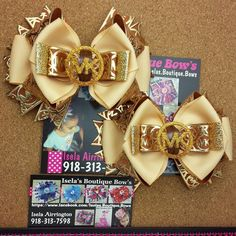 New Set of 2 Mkpigtail bows by iselasboutiquebows on Etsy