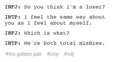 INFJ and INTP, the golden pair