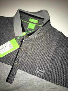 New Mens Hugo Boss Polo T Shirt 2016 geen label Top Grey SIZE-XXL