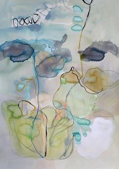 Marsha Boston, Botanical Illustration 2012, Watercolor and ink on paper