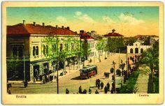 Braila de altadata. Piata Sf. Arhangheli (Piata Traian astazi) Romania, Urban, City, Postcards, Painting, Travel, Unique, Viajes, Painting Art