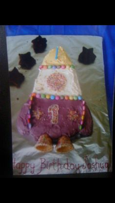 My rocket cake for son