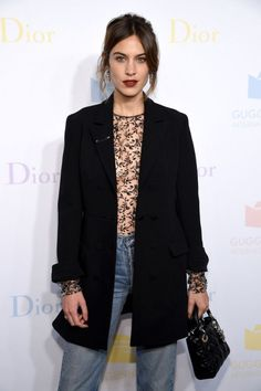 chungit-up: Alexa Chung attends the 2016 Guggenheim International Pre-Party by Dior at the Guggenheim Museum in New York City | November 16, 2016