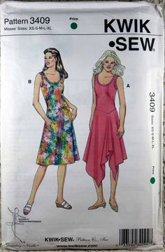 Kwik Sew 3409, Misses' Dance Dress Sewing Pattern, Misses' Size XS - XL, Dance Dress Pattern, Uncut by Allyssecondattic on Etsy