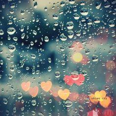 I love love love rain! (and bokeh) Sound Of Rain, Singing In The Rain, I Love Rain, Amarillis, Rain Photography, Hipster Photography, Photography Photos, When It Rains, Rainy Days