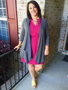 So happy you got out of your comfort zone with this fuchsia Pixley Bogota dress, because it looks wonderful on you!