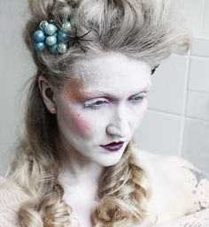 Halloween Makeup – Marie Antoinette #halloweenmakeup #fasching #verkleidung #costume #marieantoinette #renaissancemakeup  bambidoes
