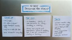 Declutter Your World in 10 Days.  Take the challenge to shape up, pare down and tune in.