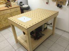 In diesem Teil geht es um die Fertigstellung der Werkbank. Ich zeige wie ich die Einlegeplatte für den Frästisch gefertigt und anschließ...