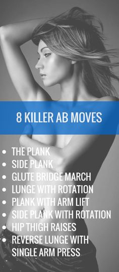 Best moves for killer abs. #abs #healthy #fitness #workout http://rupertreviews.com/show-off-your-flat-tummy-with-these-8-killer-moves/