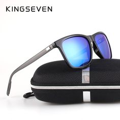2703fe58f11 KINGSEVEN New Fashion Brand Designer Aluminum Sunglasses Polarized Mirror  lens Male oculos Sun glasses Eyewear For Men